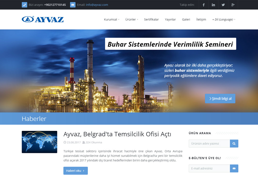 Web Sitesi / Ayvaz