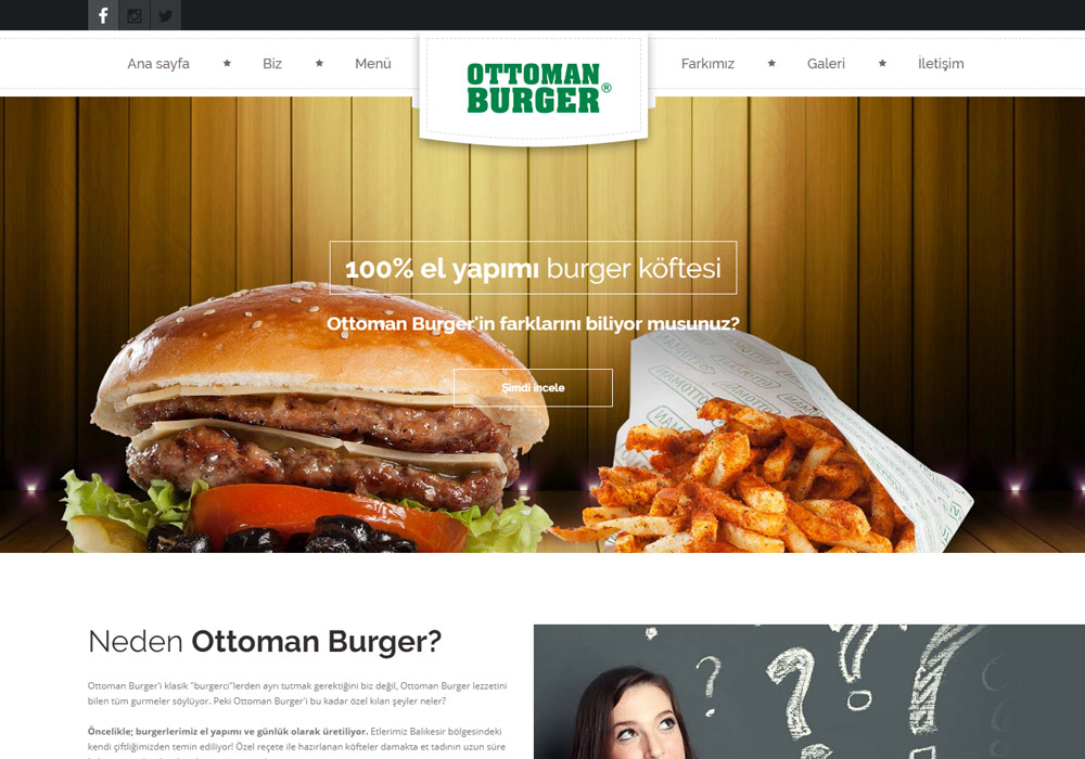 Web Sitesi / Ottoman Burger